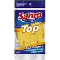 Luva de Latex Top amarela P Sanro