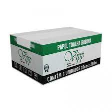 Papel Toalha Bobina 20cmX200m Vipp Luxo (20g)