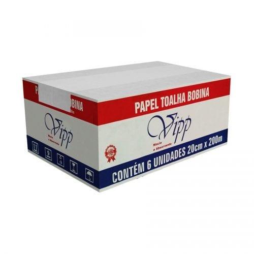 Papel Toalha Bobina 20cmX200m Vipp Plus (32g)