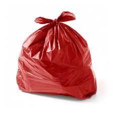 Saco de Lixo vermelho 101L (100 unidades)
