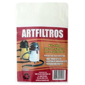 Saco Descartável para Aspirador A20 Artfiltros (3 unidades)