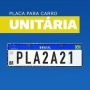 Placa Unitária Automóveis - Carros