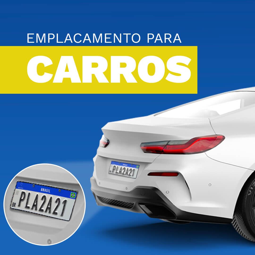 Conjunto com 2 Placas Automóveis (1 PAR)
