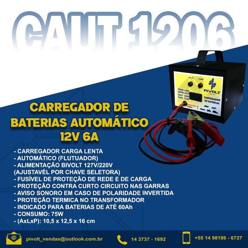 Carregador De Baterias Automotivo 12v 06a Automático