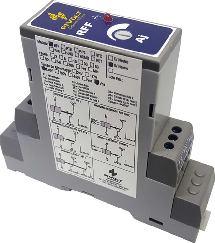 Kit 15 Relés Falta de Fase Trifásico SEM NEUTRO DIN 35mm