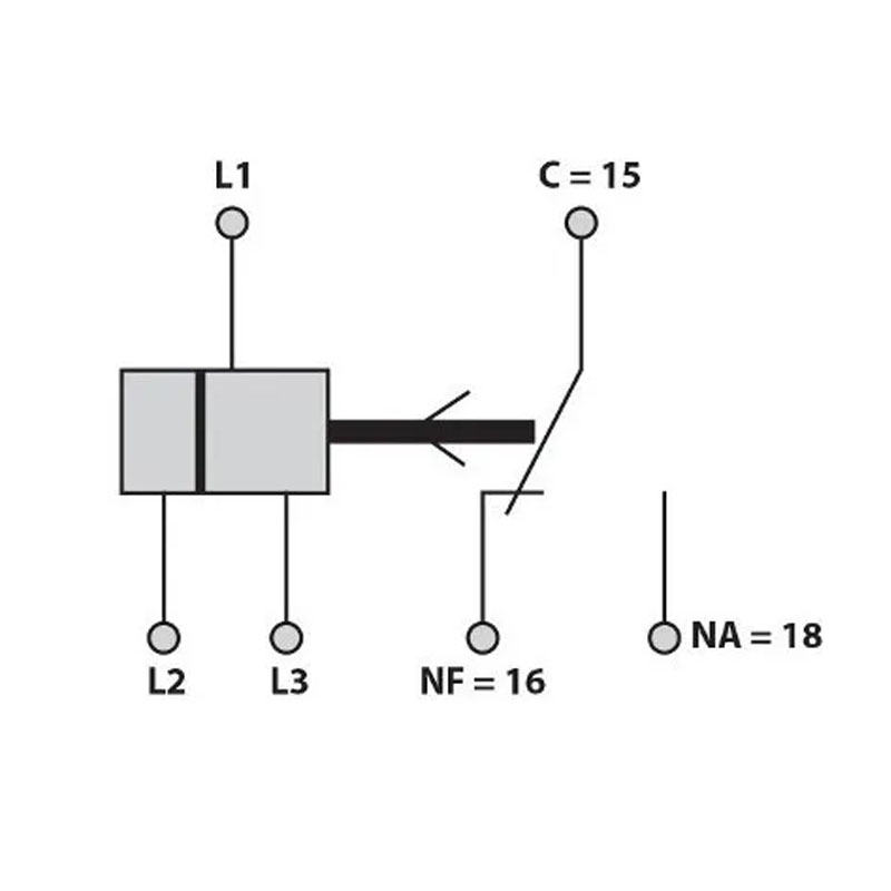 Kit 20 Relés Falta de Fase Trifásico SEM NEUTRO DIN 35mm