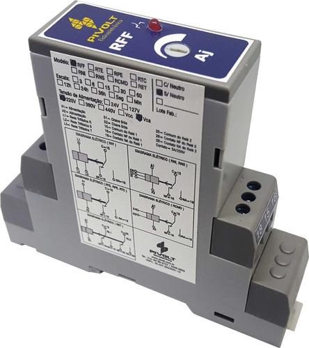 Kit 3 Relés Falta de Fase Trifásico SEM NEUTRO DIN 35mm