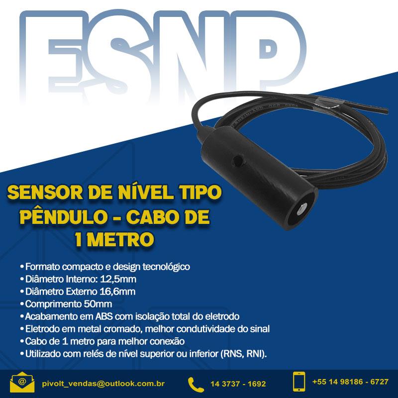 Kit Com 18 Eletrodos Sensor De Nível Tipo Pendulo Cabo 1m