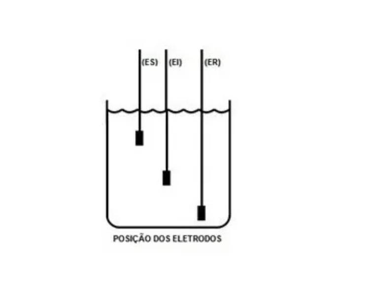 Kit com 3 Eletrodos Sensor De Nível Tipo Pendulo Cabo de 1m