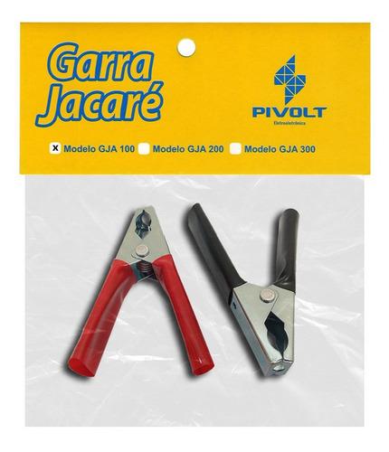 Par Garras Jacaré 100A Grande para Carregador Baterias (pt/vm)