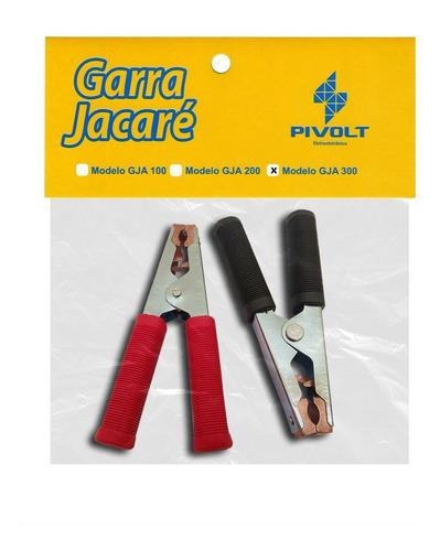 Par Garras Jacaré 300A Grande para Carregador Baterias (pt/vm)