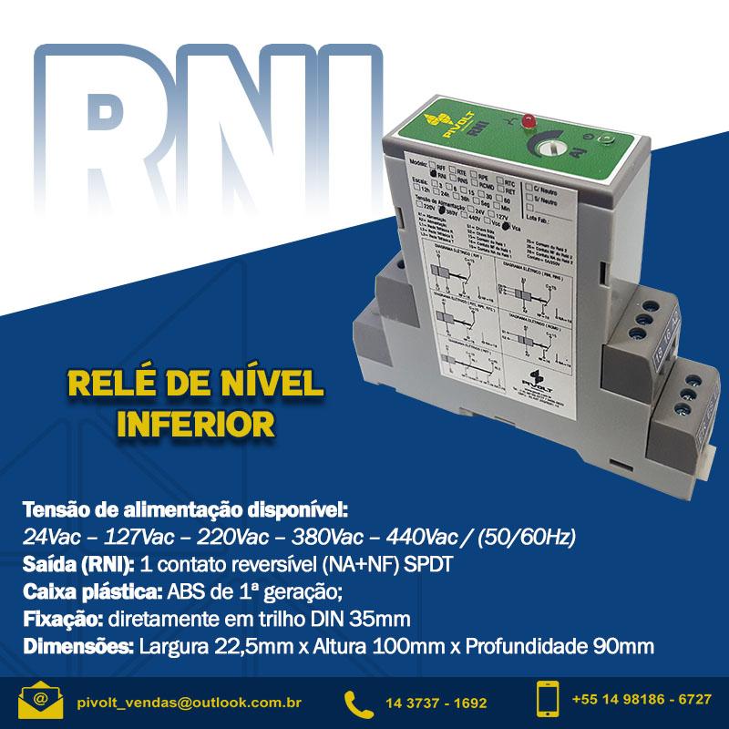 Relé de Nível Inferior DIN 35mm