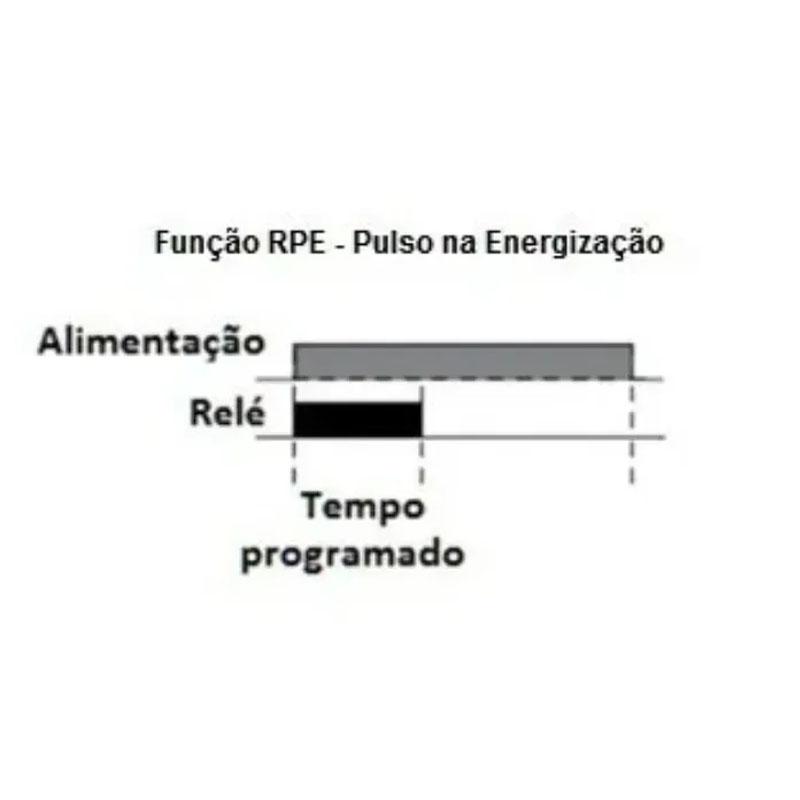 Relé de Tempo com Pulso na Energização 24Vac/Vdc DIN 35mm