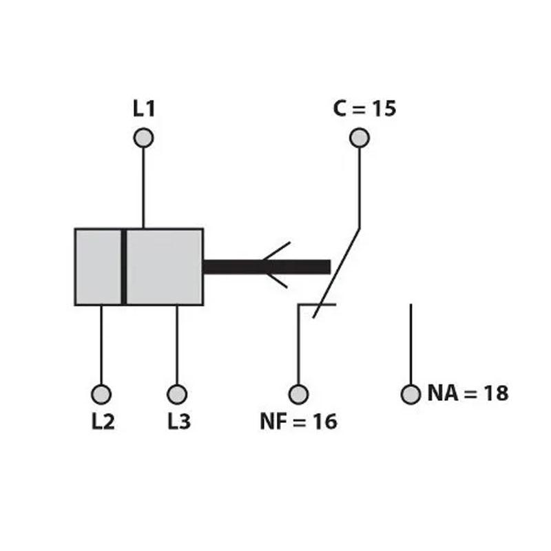 Relé Falta de Fase Trifásico COM NEUTRO DIN 35mm