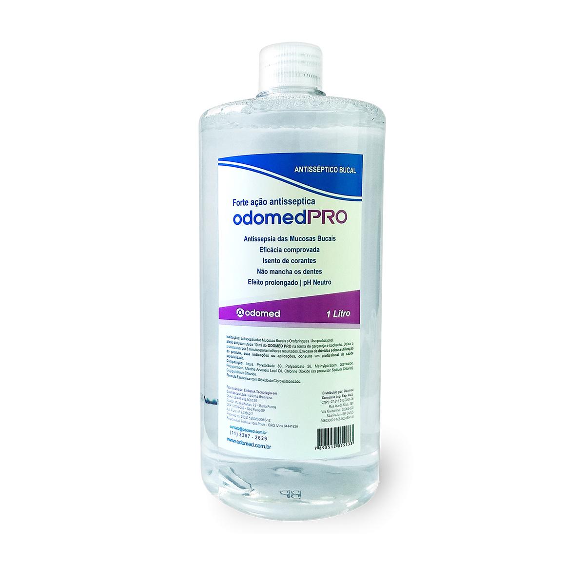 Enxaguante Antisséptico Bucal OdomedPro  - 1 LITRO