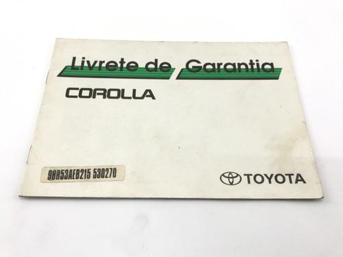 Manual Do Proprietário Corolla Se G1 2001