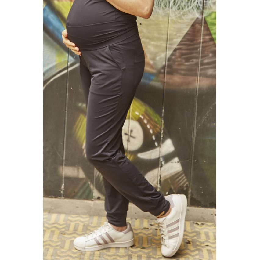 Calça Gestante Jogging Melão Preta