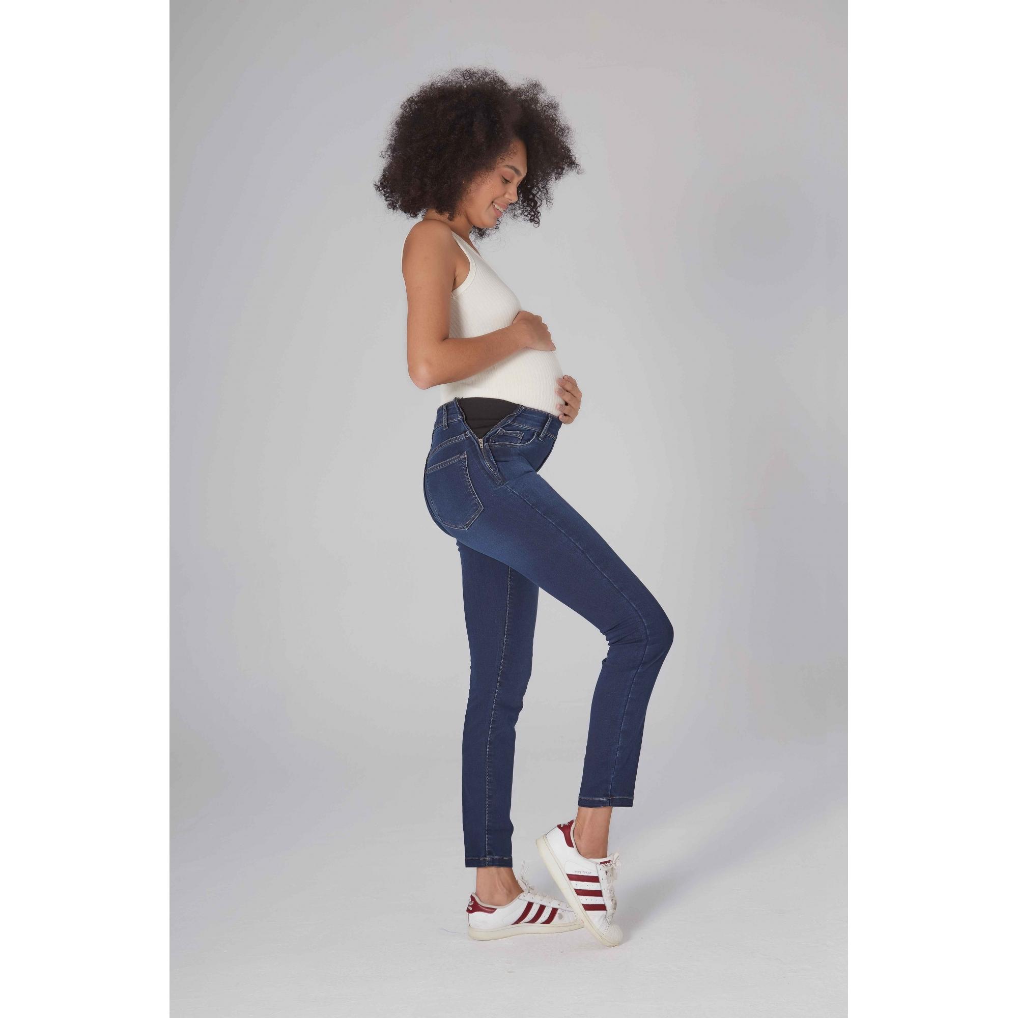 Calça Jeans Gestante Limão