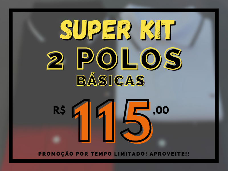 kit polo r$ 115,00