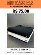 KIT CAMISETAS BÁSICAS- 2 POR R$ 75,00 (BRANCO/PRETO)