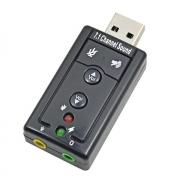 Adaptador Placa de Som USB 7.1 c/ P2 PC Notebook