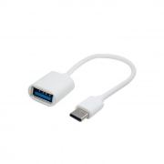 Adaptador USB Tipo C x USB 3.0 (F) Conector OTG 15cm Branco
