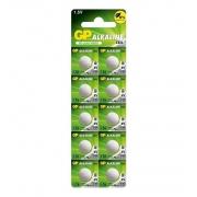 Bateria Alcalina 1,5V GP Greencell A76 (LR44) Blister C/ 10