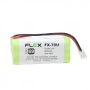 Bateria Recarregável p/ Telefone Sem Fio 2,4V 600mAh FX-70U