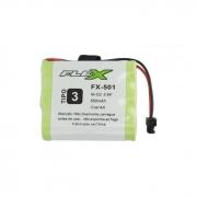 Bateria Recarregável p/ Telefone Sem Fio 3,6V 650mAh FX-501