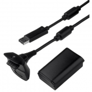 Bateria Recarregável para Controle de Xbox 360 C/ cabo