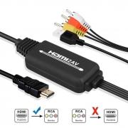 Cabo Conversor HDMI x Vídeo Composto 3RCA AV