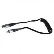 Cabo USB x Lightning Espiral Preto 1,20m X-Cell