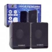 Caixa de Som USB 6W RMS X-Cell XC-CM-04
