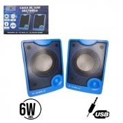 Caixa de Som USB 6W RMS X-Cell XC-CM-10
