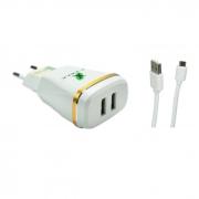Carregador de Tomada Micro USB 3.1A c/ 2 USB X-Cell