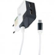 Carregador de Tomada Tipo C 3.1A com 2 USB X-Cell###