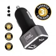 Carregador Veicular 30W c/ 1 Saída Tipo C e 1 Saída USB i2GO