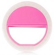 Clipe Anel Led Luz Selfie Para Celular Rosa*