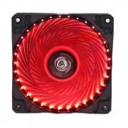 Cooler Fan 12cm com 33 LEDs Vermelho Hoopson