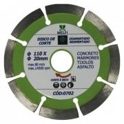 Disco de Corte Diamantado Segmentado 110 X 20mm*