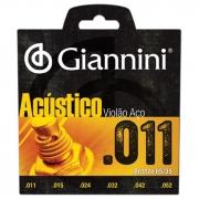 Encordoamento em Aço C/ Bolinhas P/ Violão Giannini .011*