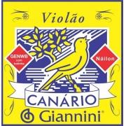 Encordoamento Em Nylon C/ Bolinhas P/ Violão Giannini GENWB - Canário*