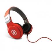 Fone de Ouvido Headphone c/ Microfone Groove Vermelho OEX ###