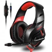 Headphone Headset Gamer P3 c/ Microfone Onikuma Preto/Verm K1B