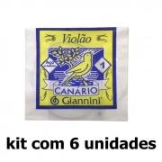 Kit 1a Corda Aço Violão c/ Bolinha GESWB1 c/ 6 Unidades