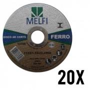 Kit disco de Corte p/ Ferro 115 X 1,0 X 22,2mm c/ 20 Unidades*