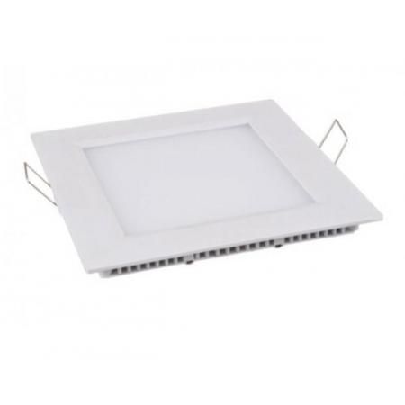 Luminária de LED Embutir 6W Quadrada Branco 12cm Frio*