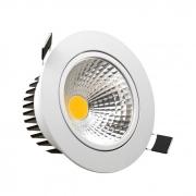 Luminária de LED Embutir 7W Redonda Fria