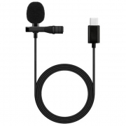 Microfone de Lapela Conector Tipo C 1,5M (Stereo) X-Cell