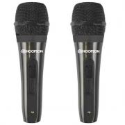 Microfone Duplo c/ Fio 3m Hoopson